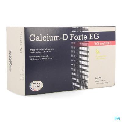 CALCIUM-D EG FORTE 1000MG/800IE CITROEN KAUWTABL90