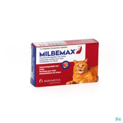 Milbemax Katten Filmomh.tabl Blister 1x2