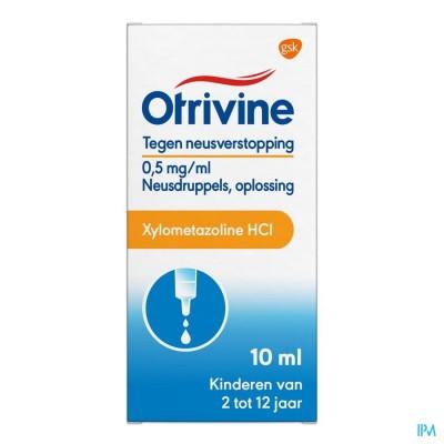 OTRIVINE HYDRAT 0,5/1000 GUTT 10ML