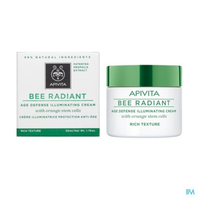 Apivita Bee Radiant Creme A/age Rijke Text. 50ml