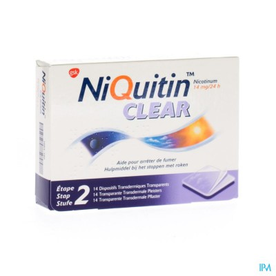 NIQUITIN CLEAR PATCHES 14 X 14 MG