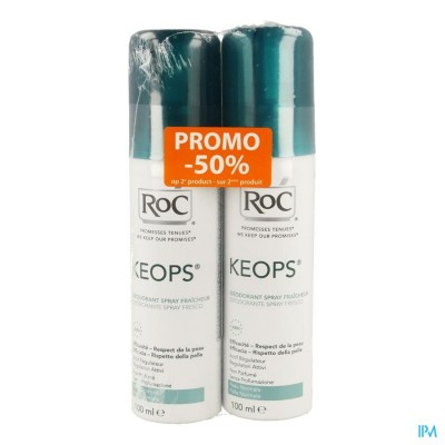 ROC KEOPS DUO DEO FRIS SPRAY Z/PARF NORM/H 2X100ML