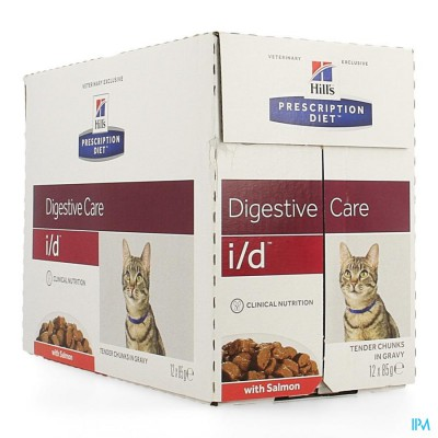 HILLS PRESCRIP.DIET FELINE ID SALMON 12X85G 1883U