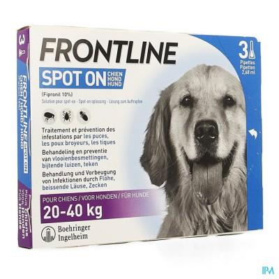FRONTLINE SPOT ON HOND 20-40KG PIPET 3X2,68ML