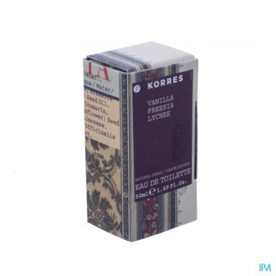 Korres Kb Fragrance Vanille Fresia Lychee Edt 50ml