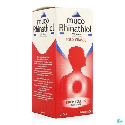 MUCO RHINATHIOL 5% SIR AD Z/SUIKER 250ML