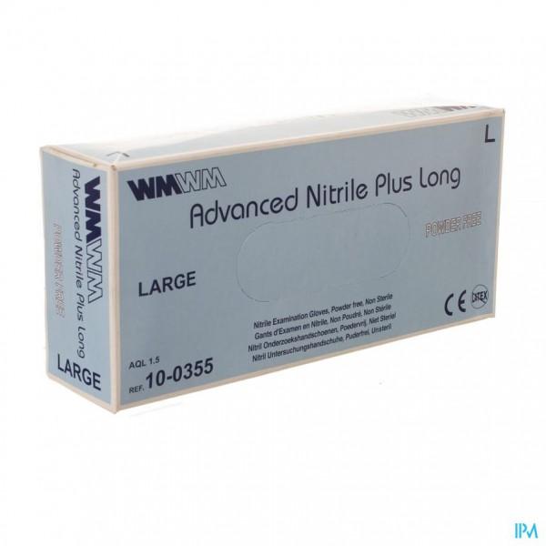 ADVANCED HANDSCH NITRIL+ LONG POEDERVRIJ L 100