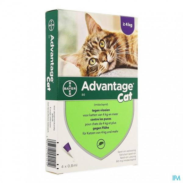 ADVANTAGE 80 KATTEN >4KG 4X0,8ML